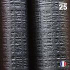Nappe papier tendance lin. Noire ébène. 25 mètres.