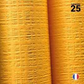Nappe papier tendance lin. Mandarine. 25 mètres.