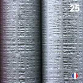 Nappe papier tendance lin. Gris béton.. 25 mètres.