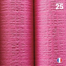 Nappe papier tendance lin fuchsia. 25 mètres