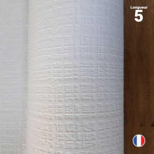 Nappe papier tendance lin blanche 5 mètres