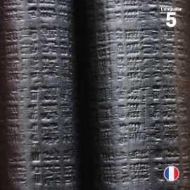 Nappe papier tendance lin. Noir ébène. 5 mètres.