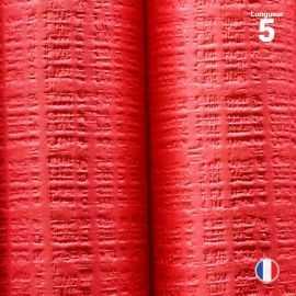 Nappe papier tendance lin rouge. 5 mètres.