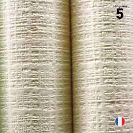 Nappe papier tendance lin ivoire. 5 mètres.