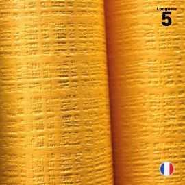 Nappe papier tendance lin. Mandarine. 5 mètres.