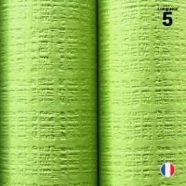 Nappe papier tendance lin. Vert anis. 5 mètres.