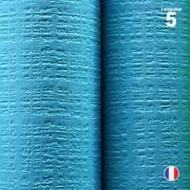 Nappe papier tendance lin. Turquoise. 5 mètres.