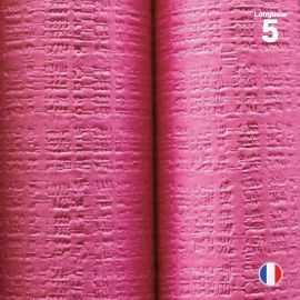 Nappe papier tendance lin. Fuchsia. 5 mètres.