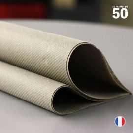 Serviette en non-tissé argile. 40 cm x 40 cm.