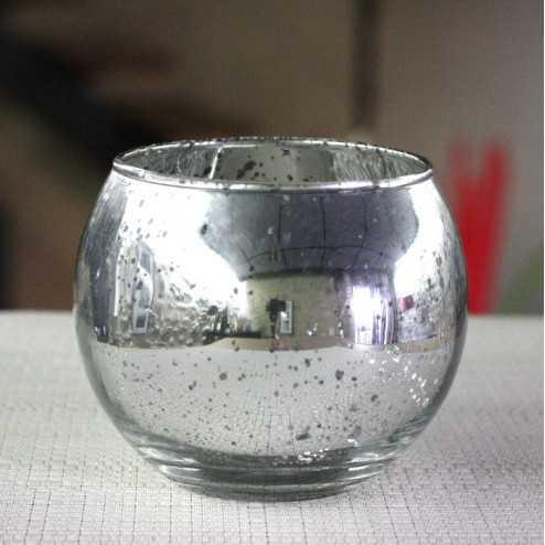 Photophore de table Argent boule