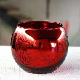 Photophore de table Rouge boule