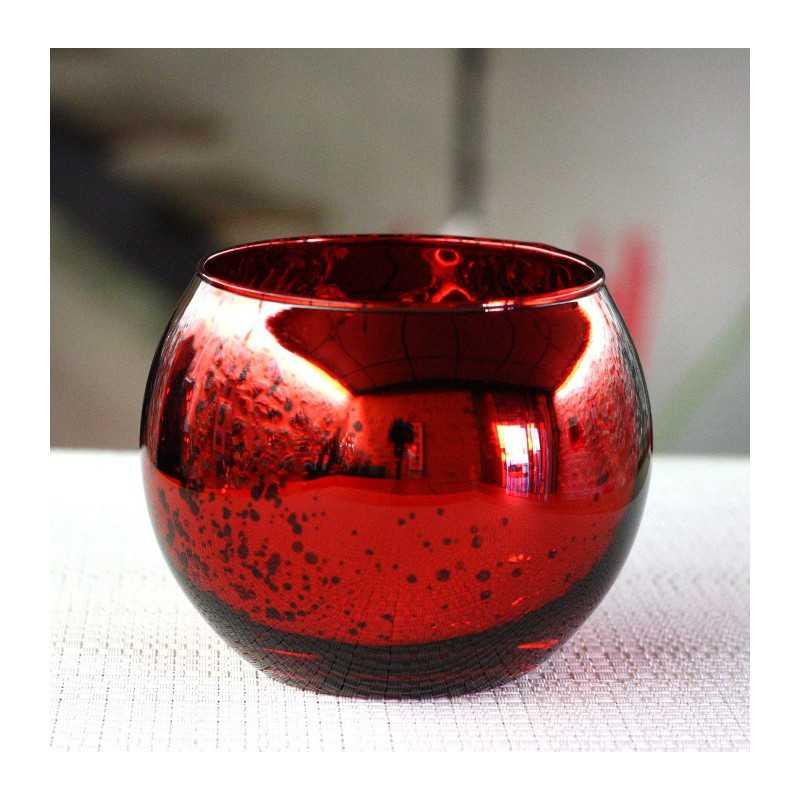photophore de table rouge boule vaisselle jetable discount. Black Bedroom Furniture Sets. Home Design Ideas