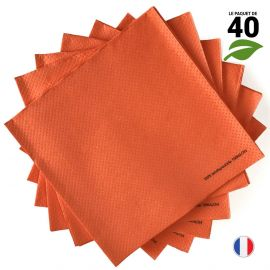 Serviettes Ethik chic Orange. 40 cm x 40 cm.