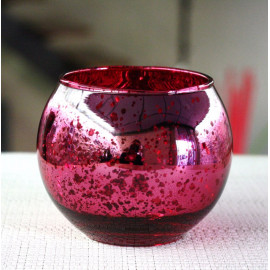 Photophore de table Fuschia boule