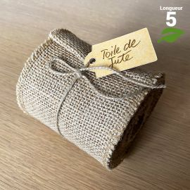 Ruban de table jute naturelle 5 mètres