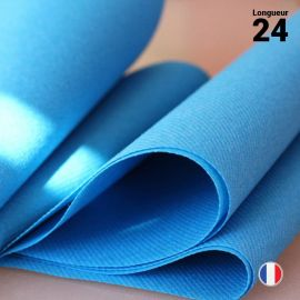 Chemins de table en non-tissé bleu canard. 24 mètres.