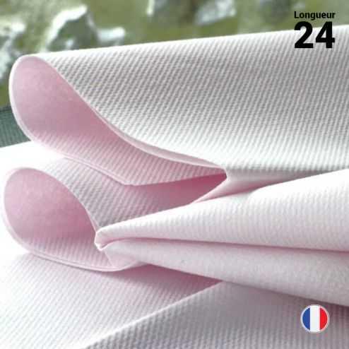 Chemins de table non-tissé rose poudre 24 mètres