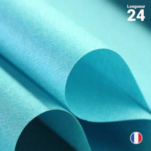Chemins de table en non-tissé turquoise. 24 mètres.