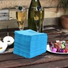 """Serviettes """"Cocktail"""" Turquoise. 20 cm x 20 cm."""