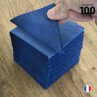 """Serviettes """"Cocktail"""" Bleu marine. 20 cm x 20 cm."""