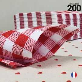 Serviette papier 1 pli Vichy 30 cm x 30 cm. Par 200.