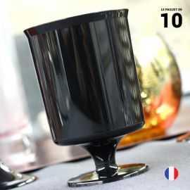 10 Verres à vin noir 16 cl. Recyclables - Réutilisables.
