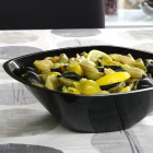 Saladier en plastique noir 300 cl