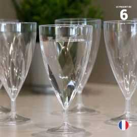 6 Verres à eau torsadés. Lavables - Réutilisables. 20 - 24 cl