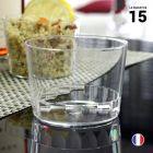 15 Verres cristal bodéga 25 cl. Lavables - Réutilisables.