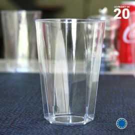 20 Verres octo 25 cl. Lavables - Réutilisables.