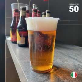 50 Gobelets bière 40 cl. Recyclables - Réutilisables.