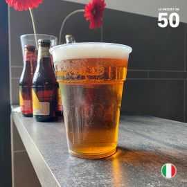 50 Gobelets bière 57 cl Recyclables - Réutilisables.