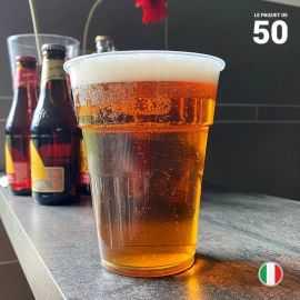 50 Gobelets bière 63 cl. Recyclables - Réutilisables.