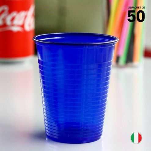 Gobelet Bleu marine 20 cl. Recyclable. Par 50