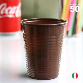 Gobelet chocolat 20 cl. Recyclable. Par 50