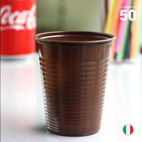 Gobelet chocolat 20 cl. Recyclable. Par 50