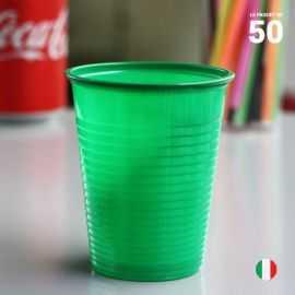 Gobelet vert 20 cl. Recyclable. Par 50.