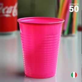 50 Gobelets fuschia 20 cl Recyclables - réutilisables