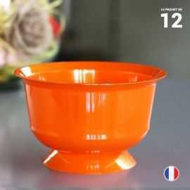 12 coupelles orange 23 cl. Recyclables - Réutilisables.