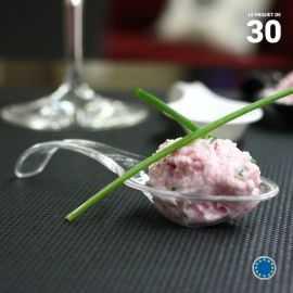 Cuillère verrine chinoise cristal. Recyclable - Réutilisable. Par 30