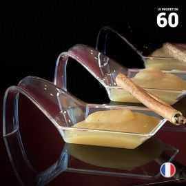 Cuillère apéritive design 3 cl. Recyclable, réutilisable. Par 60
