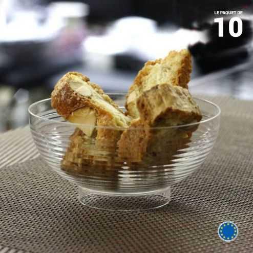 10 Mini-coupelles cristal 6 cl. Recyclables - Réutilisables