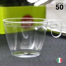 50 tasses cristal 18 cl. Recyclables - Réutilisables.
