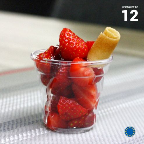 Verrine Cabosse cristal 6 cl. Recyclable - Réutilisable. Par 12.