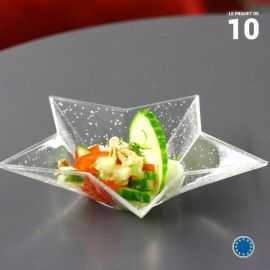 Verrine étoile 5 cl . Recyclable - Réutilisable. Par 10.