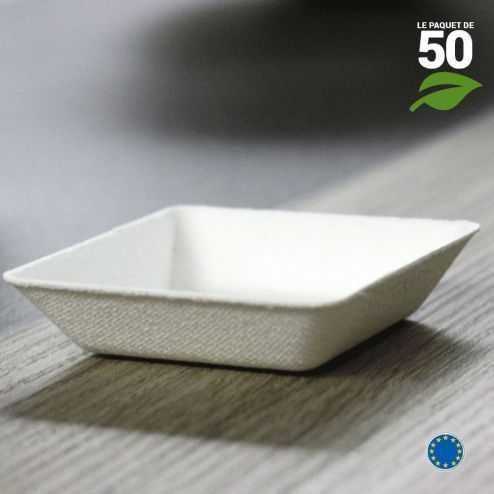 Verrine Biodégradable carrée. Par 50.