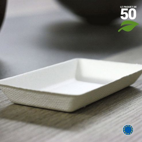 Verrine Biodégradable rectangle. Par 50.