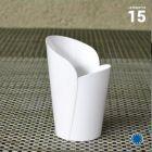 Verrine Elégance blanche 9 cl. Recyclable - Réutilisable. Par 15.