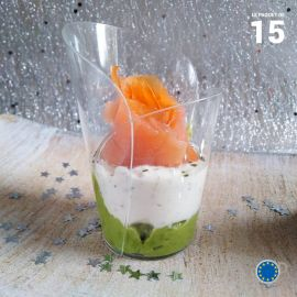 Verrine élégance cristal 9 cl. Recyclable - Réutilisable. Par 15.