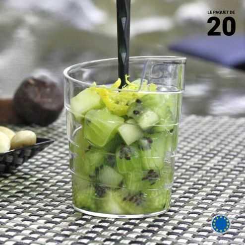 Verrine Ruban 6 cl. Recyclable - Réutilisable. Par 20.
